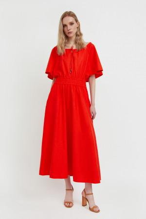 приталенное платье-макси Finn-Flare