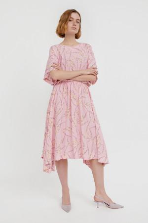 асимметричное платье с принтом Finn-Flare